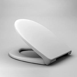 HARO KORFU SoftClose WC-Sitz mit Deckel, TakeOff Edelstahl-Scharniere C0202Y, weissalpin