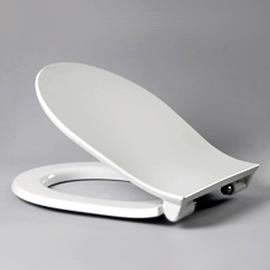 HARO MALONG SoftClose Premium WC-Sitz mit Deckel, TakeOff Edelstahl-Scharniere C0202Y mit Fastfixmutter, weissalpin