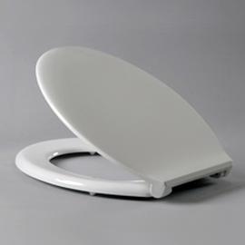HARO POOL WC-Sitz mit Deckel, Nylon-Scharniere B0301Y mit FastFixmutter, weissalpin