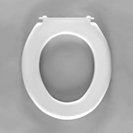 HARO POOL WC-Sitz ohne Deckel, Edelstahl-Scharniere B0302W mit SolidFix, weissalpin