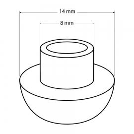 HARO DP42 Deckelpuffer Durchmesser 14/8mm, Polyethylen 1 Stück