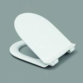 HARO RAY SoftClose Premium WC-Sitz mit Deckel ultraflach, TakeOff Edelstahl-Scharniere C0202Y mit FastFixmutter, weissalpin