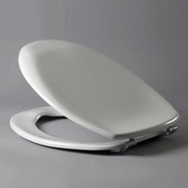 HARO SANIMED 58 WC-Sitz mit Deckel, SolidFix Spezial-Edelstahl-Scharniere S2402W, weissalpin