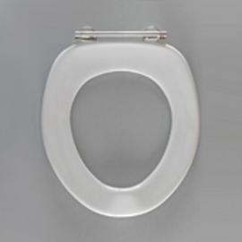 HARO SANIMED 58 WC-Sitz ohne Deckel, SolidFix Spezial-Edelstahl-Scharniere S2402W, weissalpin