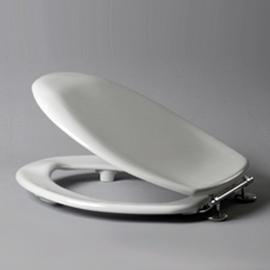 HARO SANIMED 59 WC-Sitz mit Deckel, SolidFix Spezial-Edelstahl-Scharniere S2402W, weissalpin
