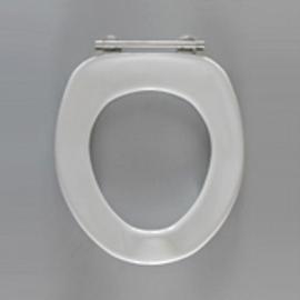 HARO SANIMED 59 WC-Sitz ohne Deckel, SolidFix Spezial-Edelstahl-Scharniere S2502, weissalpin