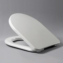 HARO SPRING WC-Sitz mit Deckel, Edelstahl-Scharniere B0302Y mit FastFixmutter, weissalpin