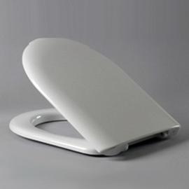 HARO STREAM WC-Sitz mit Deckel, Edelstahl-Scharniere B0302Y mit FastFixmutter, weissalpin