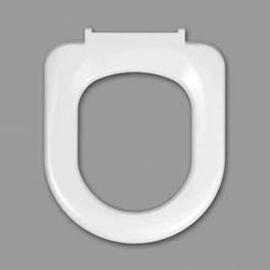 HARO STREAM WC-Sitz ohne Deckel, Edelstahl-Scharniere B0302Y mit FastFixmutter, weissalpin