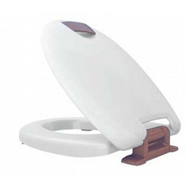 HARO HAROMED SoftClose WC-Sitz mit Deckel, Excenter-Scharnier C3202W aus Edelstahl, weiss/grau