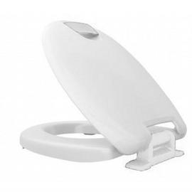 HARO HAROMED WC-Sitz mit Deckel, mit Sitzerhöhung 5cm, Edelstahl-Scharniere S3202W mit SolidFix, weiss/weiss