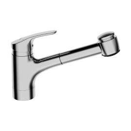 HANSAMIX Einhandmischer Küchenarmatur 0136 ND Niederdruck CU-Rohr 2-strahlig Ausladung 235mm DN15, chrom