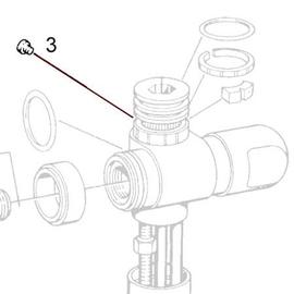 Hansa Auslauf-Befestigungsschraube M4