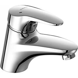 HANSAMIX Waschtisch-Einhand-Einlochbatterie o. Ablaufgarnitur, Ausl. 123mm, chrom