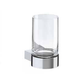 KEUCO PLAN Glashalter komplett mit Echtkristall-Glas, Edelstahl
