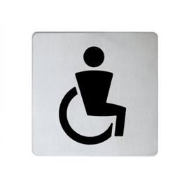 KEUCO PLAN Türschild, Symbol Rollstuhlfahrer edelstahl