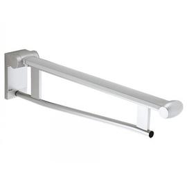 KEUCO PLAN CARE Stützklappgriff für Waschtisch, 650 mm, alu.silber-eloxiert/schwarzgrau