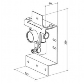 KEUCO EDITION 300 UP-Grundkörper für Einhebel Waschtischmischer 53016