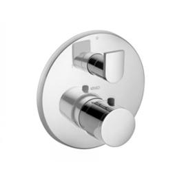 KEUCO EDITION 300 UP-Thermostatbatterie, Platte rund, mit Ab- und Umstellventil,chrom