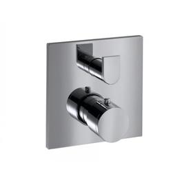 KEUCO EDITION 300 UP-Thermostatbatterie, Platte eckig, mit Ab- und Umstellventil,chrom