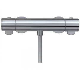 KEUCO PLAN Thermostatbatterie AP für Brause, Griff mit Ecostop-Taste, chrom