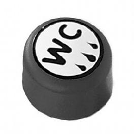 Normbau NYLON LINE-E-Taster für WC-Spülung, Anschluss verdeckt in Montageplatte, 447.61/20 manhattan