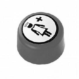 Normbau NYLON LINE-E-Taster für Notruf, Anschluss verdeckt in Montageplatte, 447.62/20 manhattan