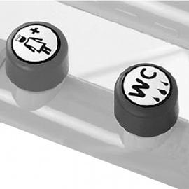 Normbau NYLON LINE-2 E-Taster f.WC-Spül./Notruf, Anschluss verdeckt in Montageplatte, 447.65/20 manhattan