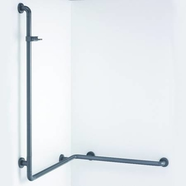 Normbau NYLON LINE-Duschhandlauf mit Brausehalter BRH.91 763x763x860 mm, 486.03/20 manhattan