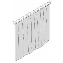 Normbau NYLON LINE-Duschvorhang 1200 x 2000 mm, DV.G/20 weiss