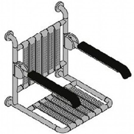 Normbau NYLON LINE-Klappsitz mit Rückenlehne u. Armlehnen 508x470x463 mm, 841.24/20 manhattan