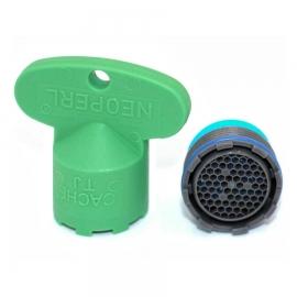 NEOPERL Cache Honeycomb Strahlregler TJ M18.5x1 grau, mit Schlüssel