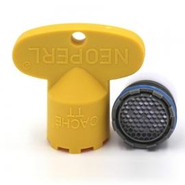 NEOPERL Cache Honeycomb Strahlregler TT M16.5x1 grau, mit Schlüssel
