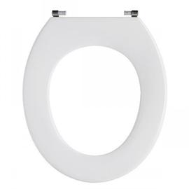 PRESSALIT Projecta WC-Sitz ohne Deckel, BY3 Spezialscharnier mit durchgehender Scharnierwelle, fest, weiss polygiene