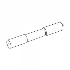 INDA WC-Papier-Teleskoprolle aus Kunststoff, weiss