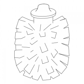 INDA WC-Bürstenkopf Serie Lea Durchmesser 7cm, weiss
