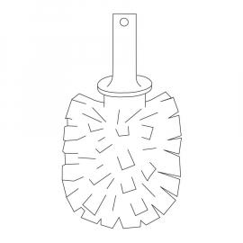 INDA WC-Bürstenkopf Durchmesser ca. 6,8cm, weiss