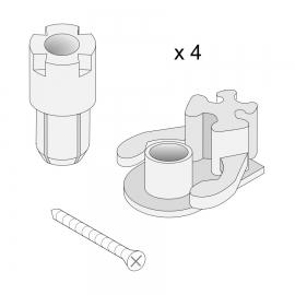 Roth Exklusiv Ersatzteile 4 Sets Einrastlager für Flügeltür
