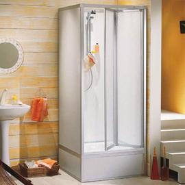 ROTH EXKLUSIV Dusche, Oberteil Typ 192, 1735 x 795 x 845 mm, Falttür, weiss,  ohne Unterteil