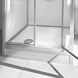 ROTH EXKLUSIV Dusche, Unterteil 845 x 845 mm, mit niedrigem Einstieg 180 mm, für Oberteil 1735 mm, Einhebelmischer, o.Boiler, o.Pumpe