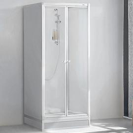 ROTH EXKLUSIV Dusche, Oberteil 1870 x 845 x 845 mm, ESG Flügeltür 2-tlg., weiss, ohne Unterteil