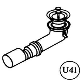 Roth Exklusiv Ersatzteil U41 Ablaufbogen für UT mit automatischer Pumpe 40 auf 50mm