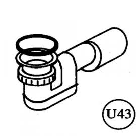 Roth Exklusiv Ersatzteil U43 Siphon mit Geruchsverschluss für UT ohne Pumpe