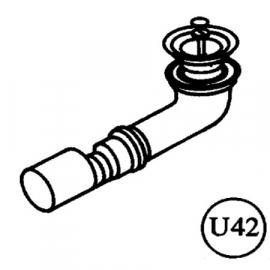 Roth Exklusiv Ersatzteil U42 Ablaufbogen für UT mit Pumpe 40 auf 50mm