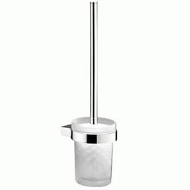 sam way WC-Bürstengarnitur, Wandmodell mit Glas-Behälter matt, chrom