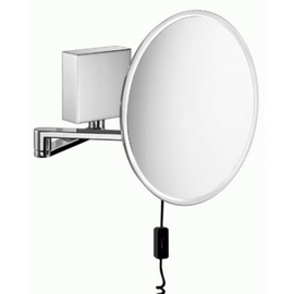 sam miro Kosmetikspiegel LED Gelenkarm chrom Kabelanschluss 7-fach
