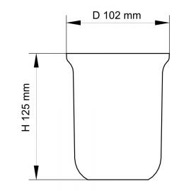 sam Ersatzbürstenglas 1992716 Kristallglas satiniert, für Bürstengarnitur matt