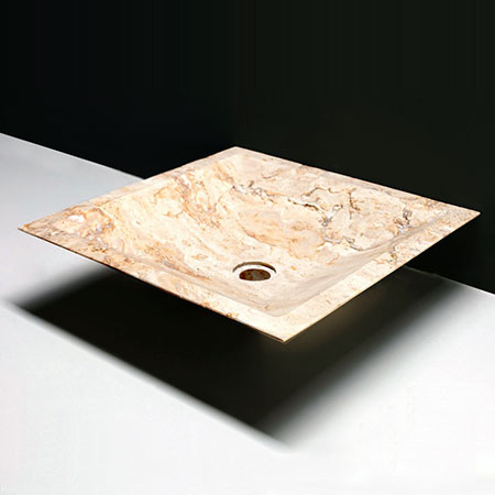 Forzalaqua Milano Travertin matt-poliert 45x45x12cm
